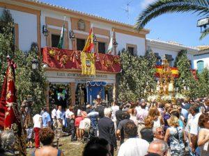 Celebración del Corpus en Hinojos.