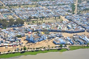 Vista aérea de El Rocío.