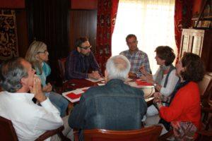 Reunión de la Fundación del Real Madrid con el Ayuntamiento de Ayamonte.