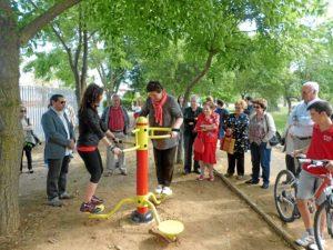 Inauguración del nuevo parque en Trigueros.