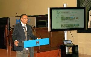 Ignacio Caraballo presenta la nueva web.