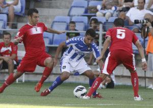Chuli en el partido ante el Murcia. (J. Pérez)