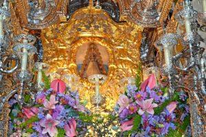 Simpecado de la Hermandad de La Palma. (Carlota Cabello)