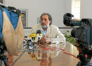 José Chamizo en un acto en la UNIA. (Julián Pérez)