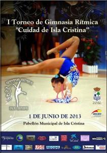 Cartel de gimnasia rítmica en Isla Cristina.