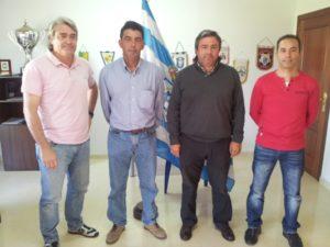 Juan Palma junto a Fernando Iturbe, José Luis Peña y su ayudante Juan Márquez.
