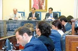 Imagen de archivo del Pleno en la Diputación Provincial.