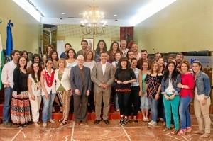 Los participantes en el programa de voluntariado.