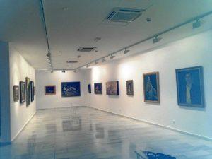 Sala de exposiciones del museo nervense.