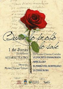 Cartel anunciador de la representación.