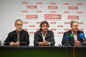 Presentación de la campaña de CCOO en favor de la línea Huelva-Zafra.