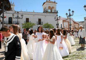 Procesión del Corpus en Cartaya.