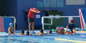 Curso de natación en San Juan del Puerto.
