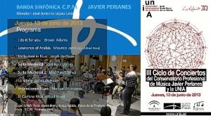 Díptico de la actividad musical en la UNIA.
