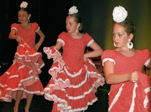 Alumnas de la escuela de baile.