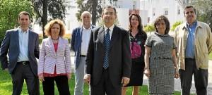 Francisco Ruiz con los miembros de su candidatura.