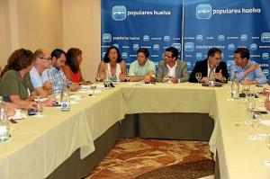 Reunión de responsables del Partido Popular en la provincia.