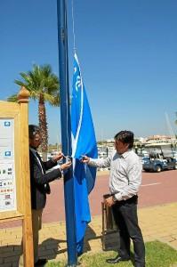 Bandera Azul en Ayamonte.