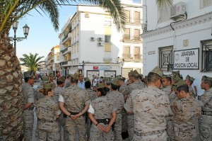 Miembros de la Legión en Bollullos.