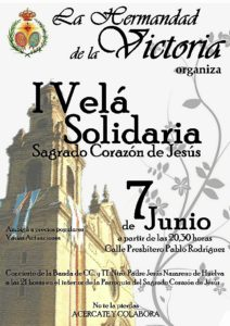 Cartel de la Velá solidaria de la Victoria.