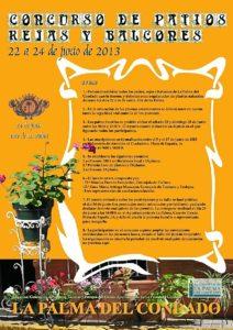 Cartel concurso de patios en La Palma.