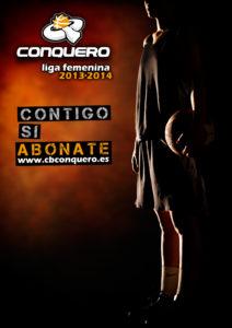 Cartel de la campaña de abonados del CB Conquero.