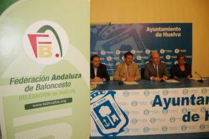 Convenio entre la Federación Andaluza de Baloncesto, el Ayuntamiento y el CB Conquero.