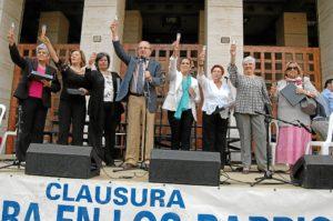 Inauguración de la muestra de trabajos de Cultura en los Barrios.