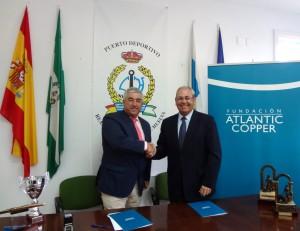 Covenio entre Atlantic Copper y el Club Marítimo de Huelva.