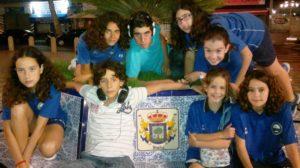 Equipo del Club Natación Huelva en el Andaluz alevín.
