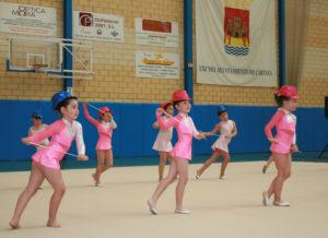 Exhibición de gimnasia rítmica en Cartaya.