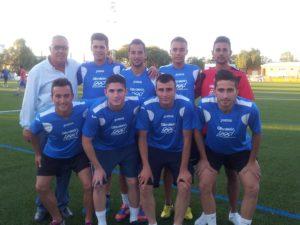 Equipo 'Los Humildes' de fútbol 7 amateur.