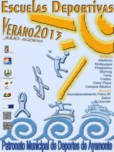 Cartel de las Escuelas Deportivas de Ayamonte.