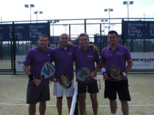 Finalistas masculinos del Trofeo Adarsa Sur de pádel.