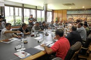 Reunión en el Puerto del Foro del Transporte y la Logística.