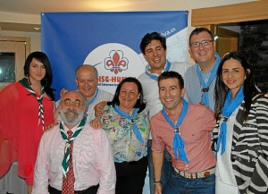 Foto de familia del grupo de Scouts.