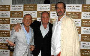 De izquierda a derecha; Arturo Gamboa y Ernesto Serrano con Ignacio de Marichalar.