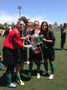 Jugadoras del Cajasol Sporting, campeonas de España sub 18.