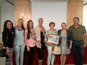 Ganadores y miembros del jurado.
