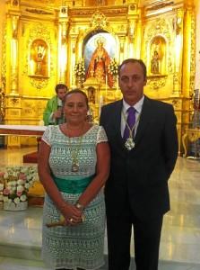 La alcaldesa y el presidente del Consejo de Hermandades.