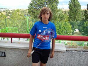 Miguel Ángel Fernández, jugador sub 13 del IES La Orden.