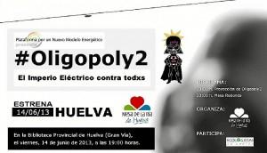 Detalle del cartel anunciador de Oligopoly2.