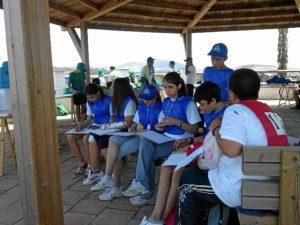 Escolares participantes en la actividad.