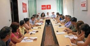 Reunión de los portavoces del PSOE en localidades donde gobierna el PP.