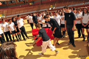 Escolares en la plaza de toros.