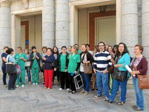 Protesta de las trabajadoras de la empresa Volconsa.
