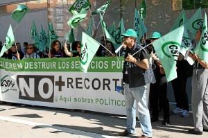 Protesta del CSIF contra recortes Junta35