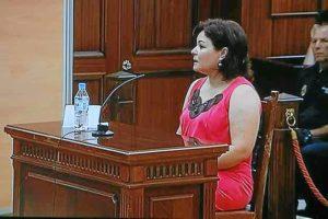 Ruth Ortiz durante la declaración en el juicio. (Madero Cubero)