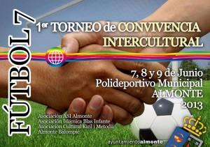 Cartel del Torneo de Convivenvia Intercultural en Almonte.