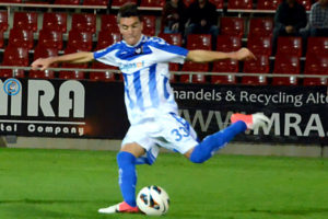 Ayala, futbolista del Recreativo B.